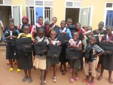 Surplus schoolbags delight Rwandan children