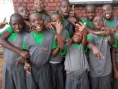 Unused uniform donated to Rwandan children